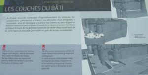 Château fort de Sedan - les couches du bâti